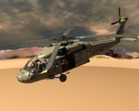 3D military helicopter model