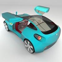 3D model interior version concept coupe
