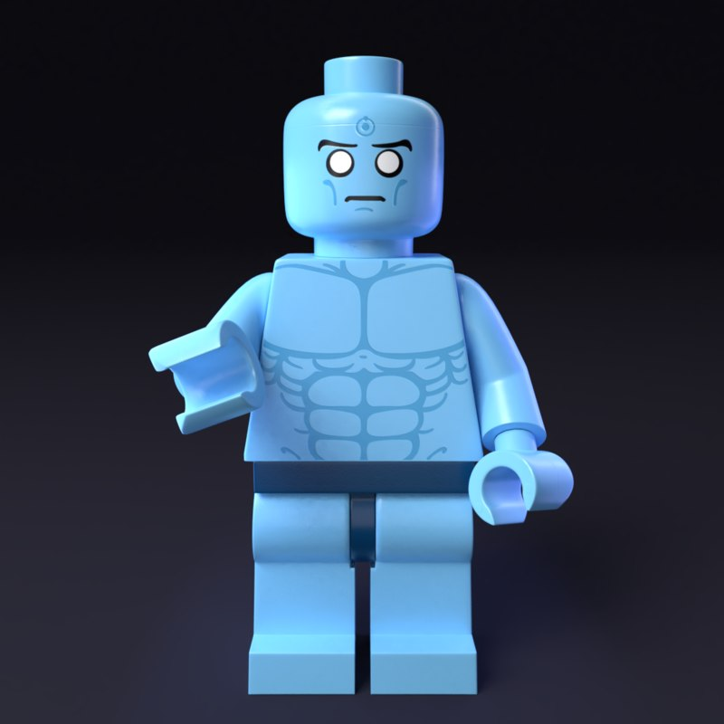 lego minifigure dr manhattan 3D model