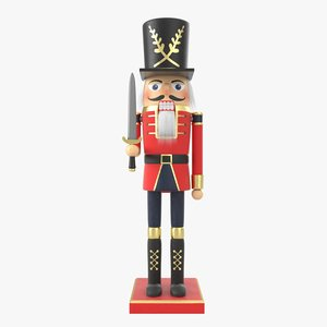 3D nutcracker nut cracker model