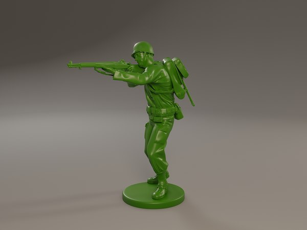 3D american soldier ww2 shoot