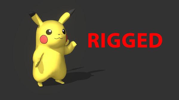 3D pikachu rigged