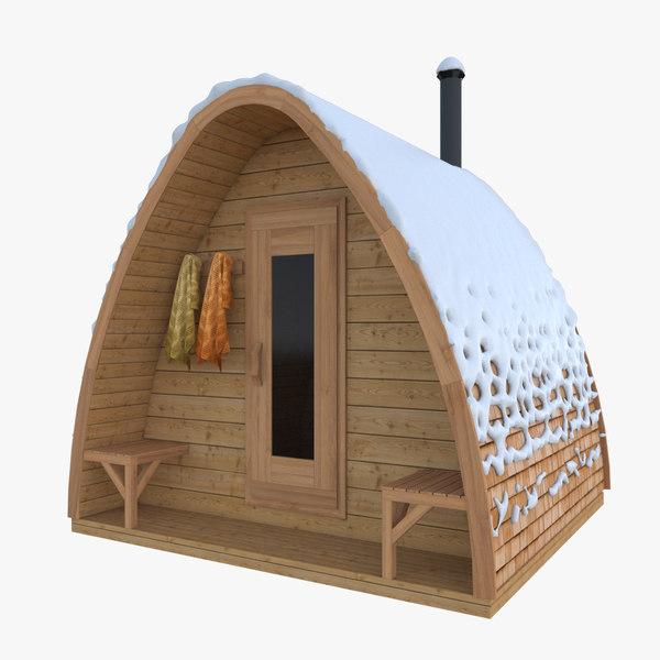 sauna pod 3D model