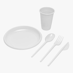 plastic tableware 3D model