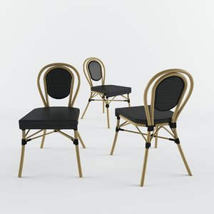 3D dining chair time model