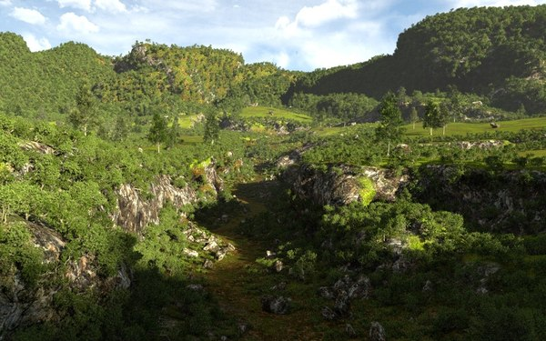 3D model environment natural canyons terrains
