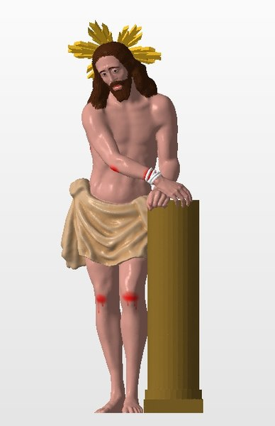 sculpture jesus tied column 3D model