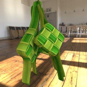 3D ketupat model