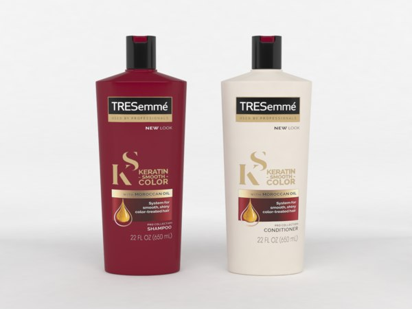 3D tresemme shampoo conditioner