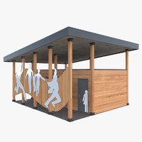 public outdoor 3D