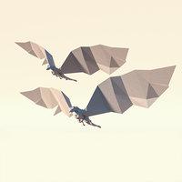 3D model paper dragons