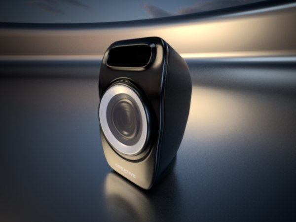 3D realistic pc speaker model