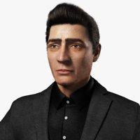 realistic man 3D