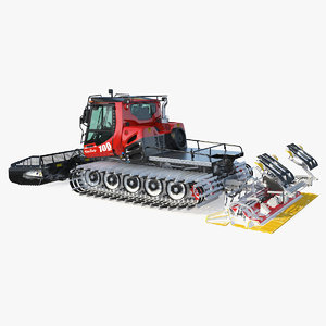 snow pistenbully 100 snowcat 3D model