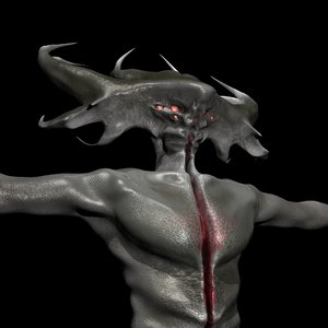 monster character creatures 3D model