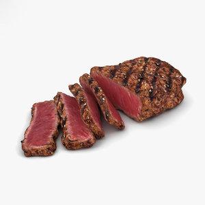 medium rare steak model