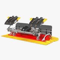 3D trail snow groomer model