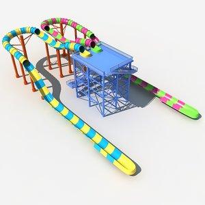 3D model water slide 2
