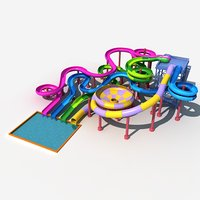 3D model water slide 3