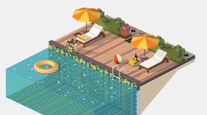 3D pool isometric