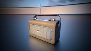 bush digital radio retro 3D model