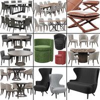 3D bonaldo bel air chair sofa model