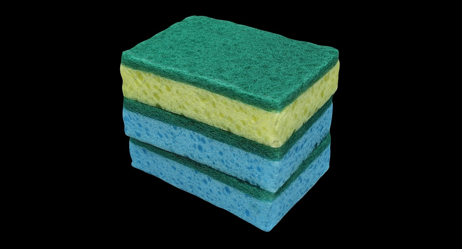 3D cleaned sponges