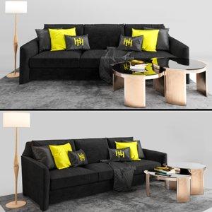3D sofa arles heritage