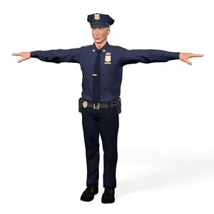 cop man 3D model