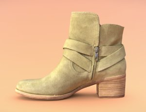 3D womens shoe