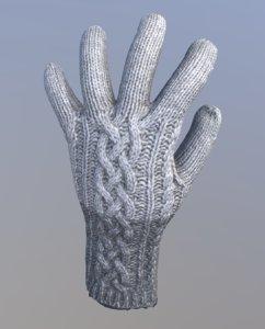 wool glove 3D model