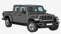 3D jeep gladiator 2020 interior model