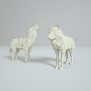 paper wolves 3D model