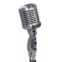 vintage microphone shure 3D model