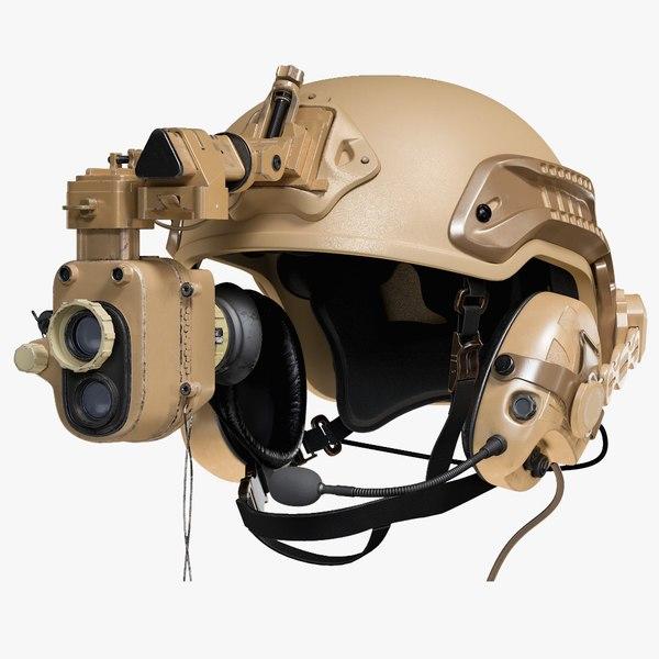 3D helmet night vision goggles model