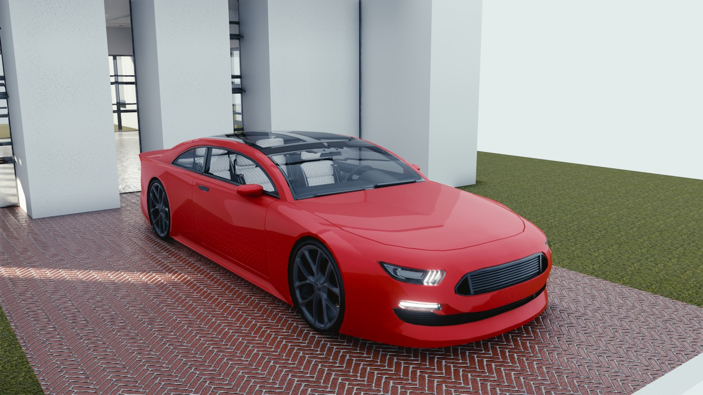 car blender eevee 2 3D