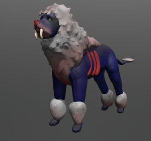 blue lion 3D