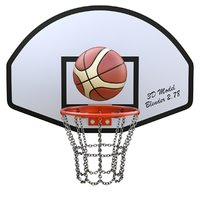 Basketball Hoop With Chain Net and Basket Ball