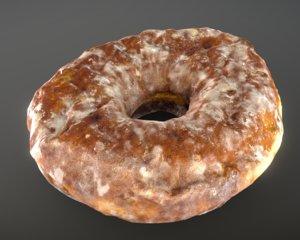 3D banana doughnut plant model