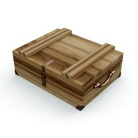 old wooden chest model