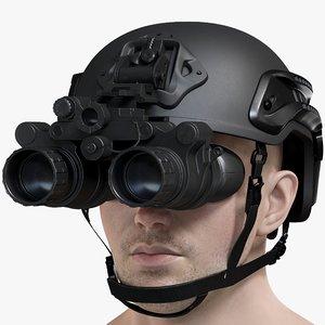 male military head helmet 3D model