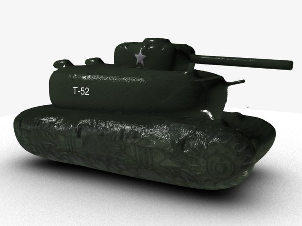 3D dummy army tank model