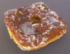 3D model coconut cream doughnut plant