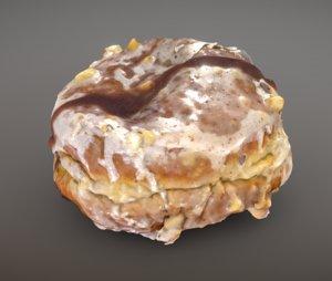 hazelnut chocolate doughnut 3D model