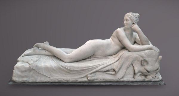 museum reclining naiad 3D