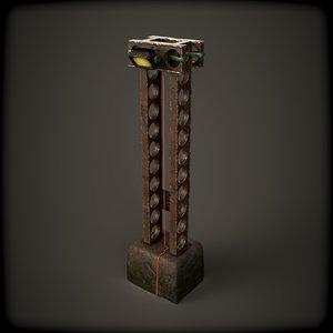 pillar light 3D model