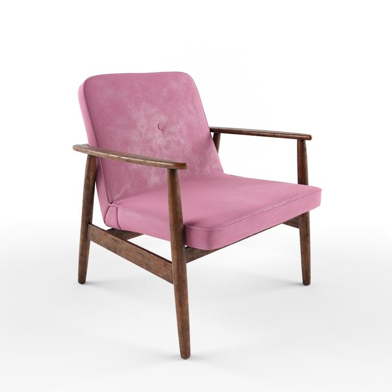 Vintage Armchair Form Century 3d Turbosquid 1401430
