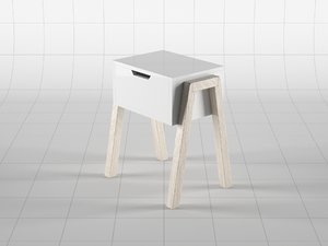 3D model nightstand 01
