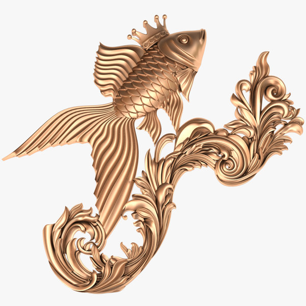 3D fish x2 goldfish model