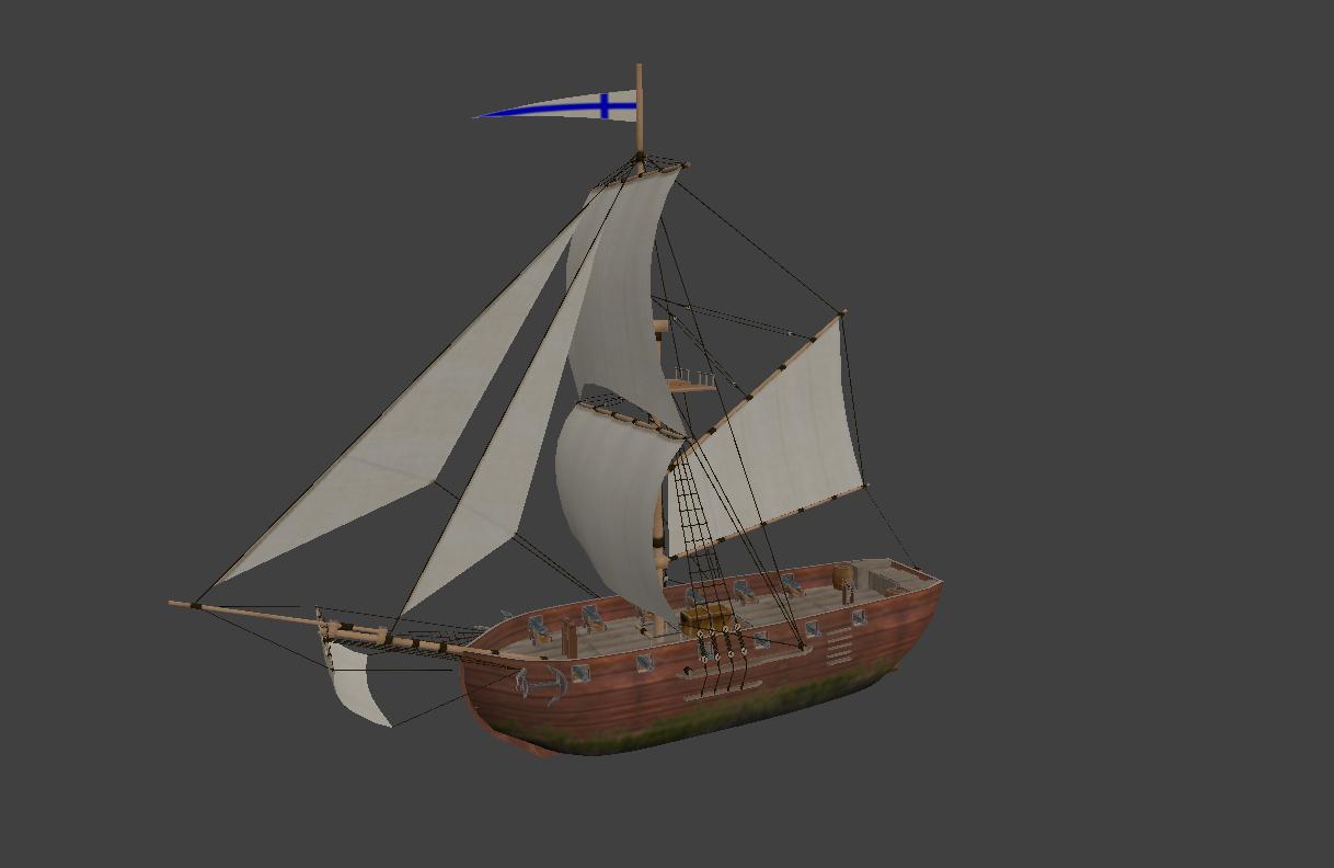 tander sailing ship model